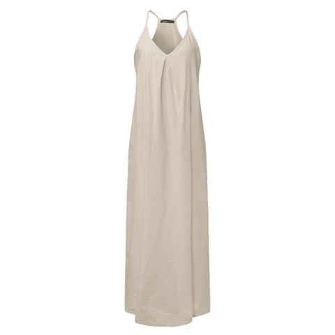 Casual Loose Maxi Party Dress - Pocketry