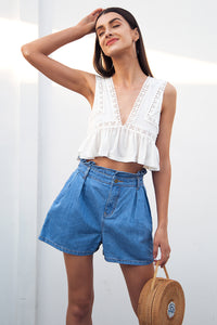 Summer Denim shorts with pockets - Pocketry