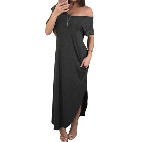 Long party Dress with pockets - Pocketry