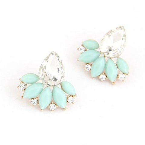 Rhinestone Drop Earrings - Pocketry
