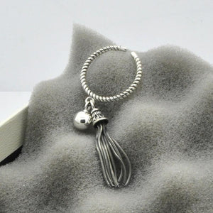 Sterling Silver Jewellery Tassels Ring - Pocketry