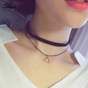 Triangle Choker Necklace - Pocketry