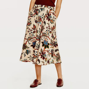 Vintage Midi Skirt With Pockets - Pocketry