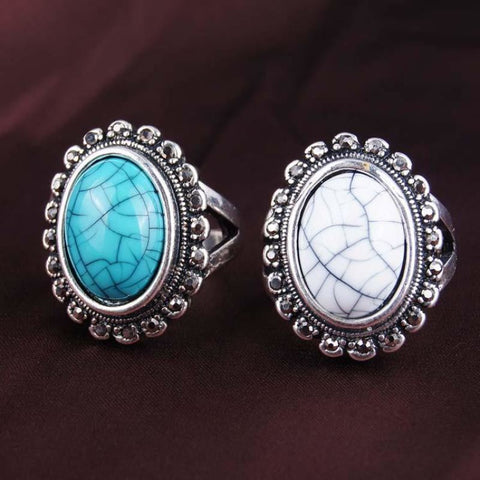 Vintage Turquoise/White Stone Ring - Pocketry