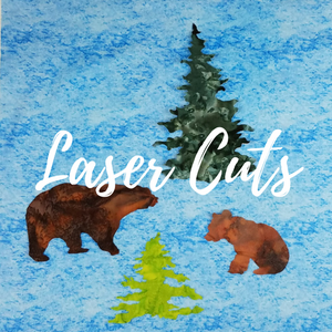 Colorado Creations Quilting has laser cut fabric images such as bears and evergreen trees