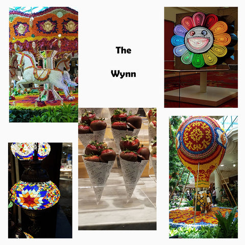 Artwork at the Wynn in Las Vegas featured in a blog post by Jackie Vujcich of Colorado Creations Quilting
