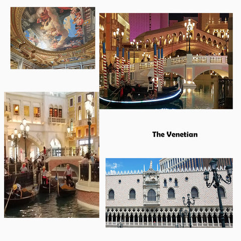 Collage by Jackie Vujcich of the Venetian in Las Vegas featured in a blog post by Jackie Vujcich of Colorado Creations Quilting