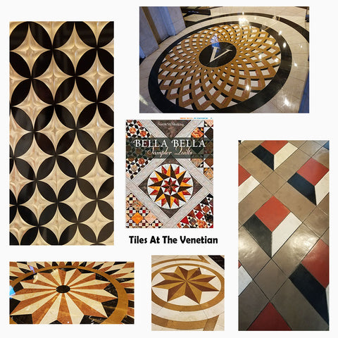 Tiling at the Venetian in Las Vegas featured in a blog post by Jackie Vujcich of Colorado Creations Quilting
