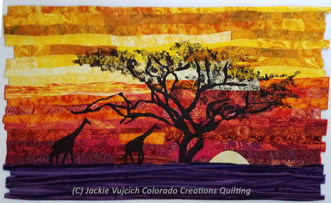Across the Serengeti by Jackie Vujcich available at Colorado Creations Quilting