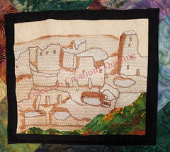 Snapshots of Colorado quilt by Jackie Vujcich features image of Mesa Verde