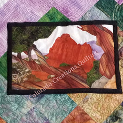 Snapshots of Colorado quilt by Jackie Vujcich features image of Garden of the Gods