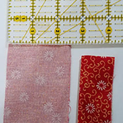 "Strips for binding 2 1/2"" width and then folder with wrong sides togherther"