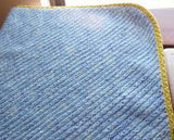 Image of blue chenille blanket