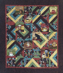 Coffee Cat quilt pattern by Jackie Vujcich for Colorado Creations Quilting