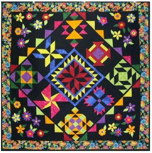 Fantasy Flowers by Jackie Vujcich available at Colorado Creations Quilting