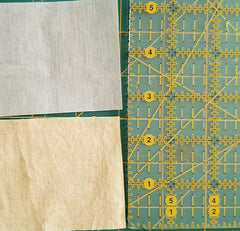 image shows fabric and fusible web for binding