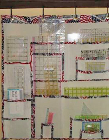 over the door home made quilt ruler organizer