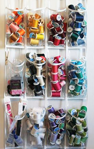 over the door shoe holder used to store thread