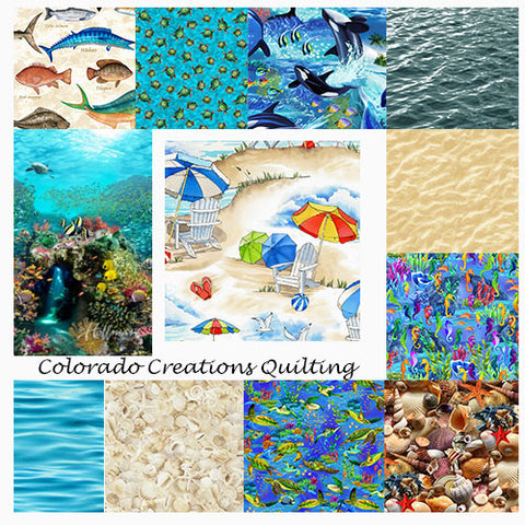 A collage of each images on cotton fabric is available at Colorado Creations Quilting