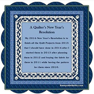 A quilter's New Year's resolution to finish UFOs