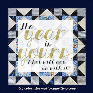 The year is yours, what will you do with it?