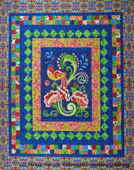 Birds of a Feather Medallion Quilt by Jackie Vujcich for Colorado Creations Quilting