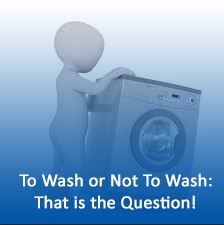 "Image of washing machine with the quote ""To Wash of Not To Wash; That is the Question"" by Colorado Creations Quilting"
