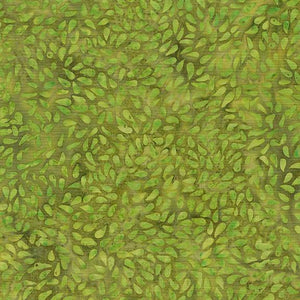 This kiwi green tonal fabric shows tossed seeds by Island Batiks. Available at Colorado Creations Quilting