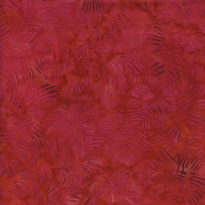 Watermellon Red Batik Cotton Fabric