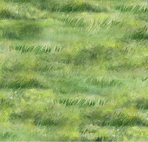 Spring green grass cotton fabric by Northcott