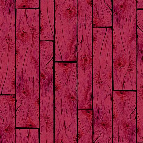 Wooden Planks Barn Red Cotton Fabric by Quilting Treasures