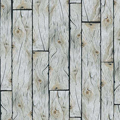 Wooden Planks Gray Cotton Fabric by Quilting Treasures