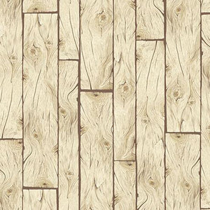 Wooden Planks Light Brown Cotton Fabric by Quilting Treasures