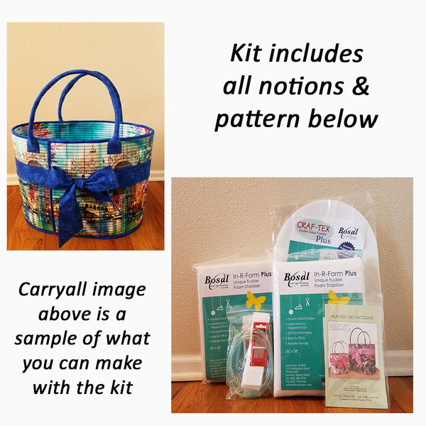 Image of various notions needed to make Aunties Two Rockport Carryall handbag.  Available at Colorado Creations Quilting