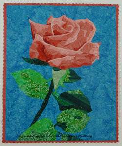 Single rose art quilt patternby available from Colorado Creatioins Quilting