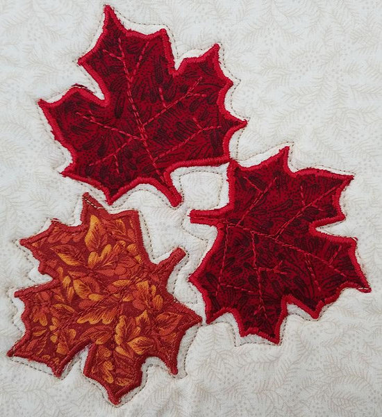 Fall Leaves Placemat Applique Quilt Pattern
