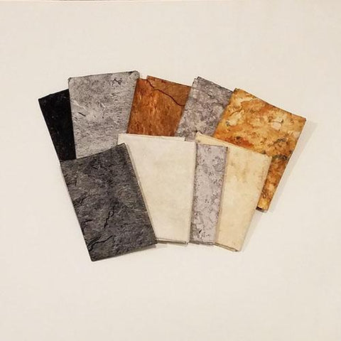 This fat quarter bundle has a selection of Stonehenge fabrics by Northcott that simulate rock formations with cracks and crevasses.