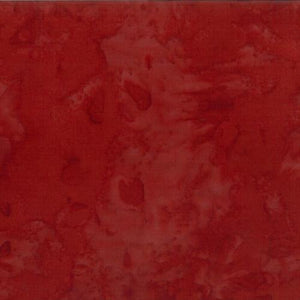 Mottled Harvest Red  Batik Cotton Fabric available at Colorado Creations Quilting