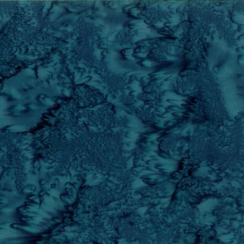 Mottled Persian Blue Batik Cotton Fabric available at Colorado Creations Quilting