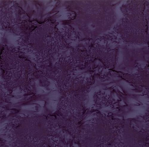 Mottled Eggplant Purple Batik Cotton Fabric available at Colorado Creations Quilting