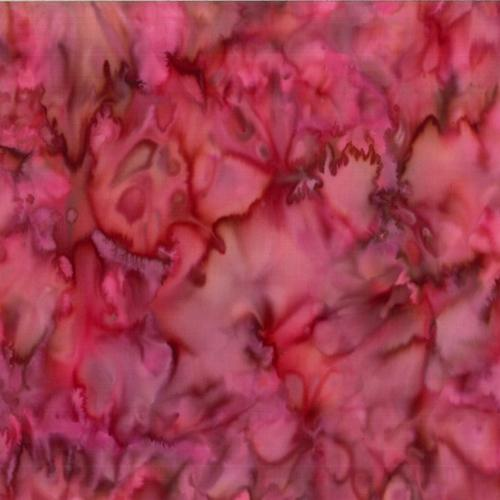 Mottled Camellia Pink Batik Cotton Fabric available at Colorado Creations Quilting