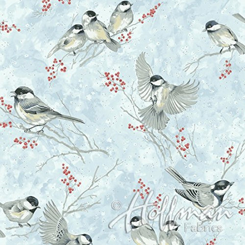 Chickadees, Berries and Trees branches available at Colorado Creations Quilting
