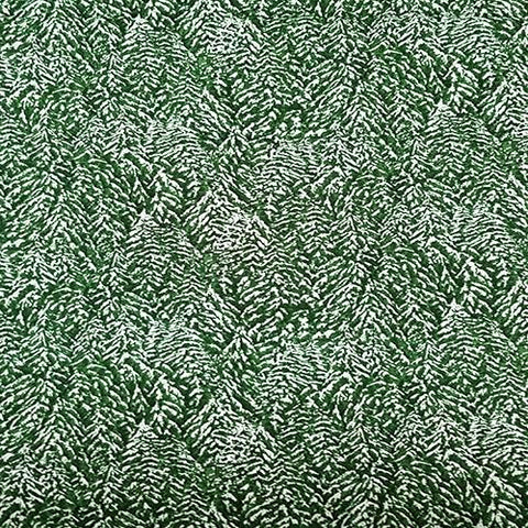 Packed snow-covered evergreen trees available at Colorado Creations Quilting