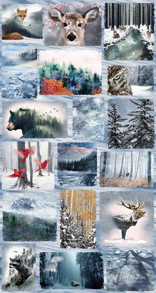 Call of the Wild Animals Digital Print Fabric Panel