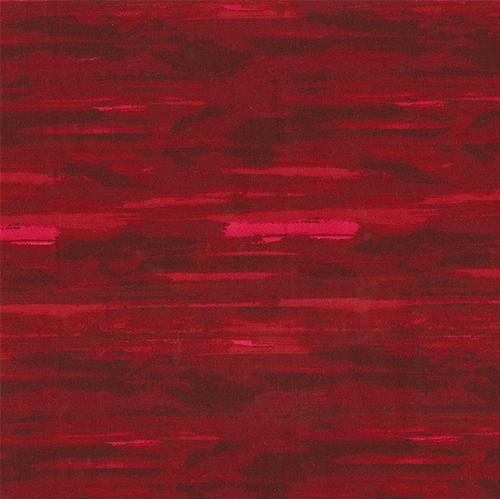 Striped red cotton fabric