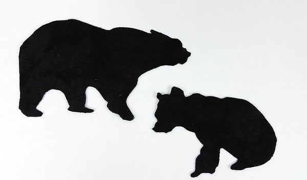 Laser Cut Pre-fused Fabric Images Mom and Baby Bear