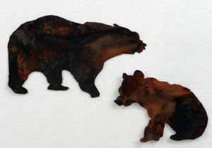 laser cut mom and baby brown bears available at Colorado Creations Quilting