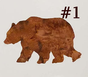 laser cut image of a brown bear