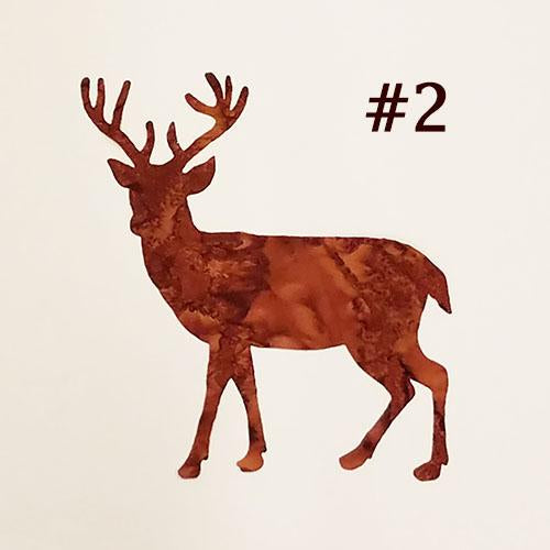 laser cut image of a brown buck