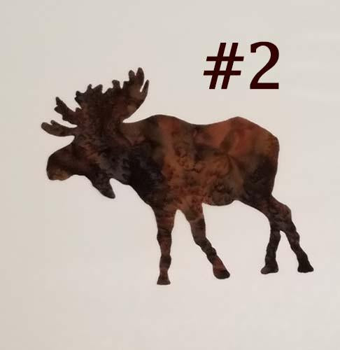 laser cut image of a brown moose
